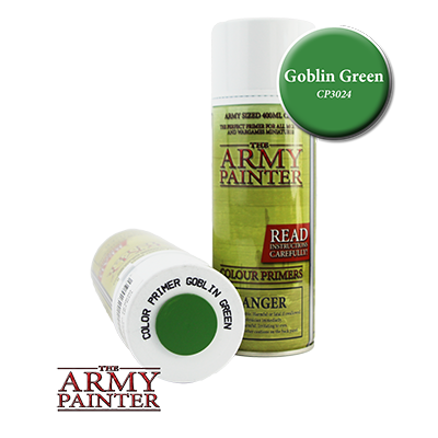The Army Painter: Goblin Green Colour Primer Spray (400ml)