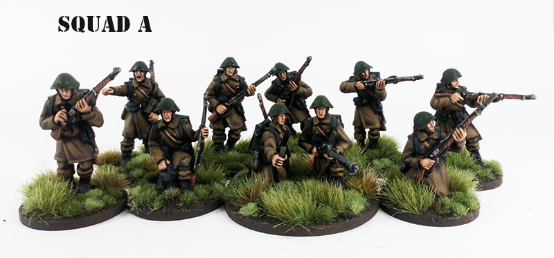 Pledge Korporal - One Danish Infantry Squad (Great Escape Games) Squad A