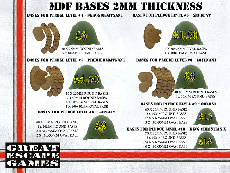 2mm MDF Bases for Pledge Sergent