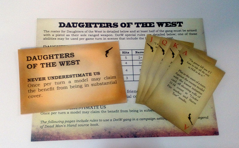 Daughters of the West card deck and rules