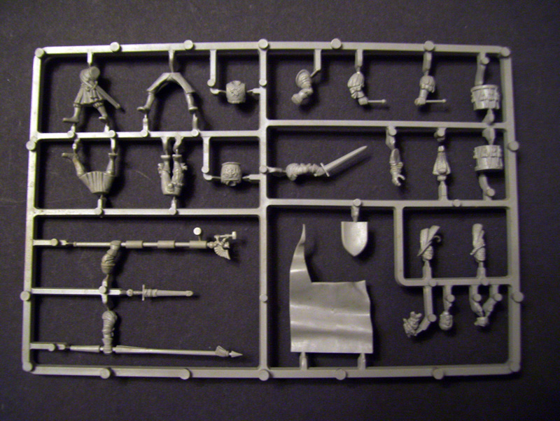 GW Empire Infantry Command plastic sprue