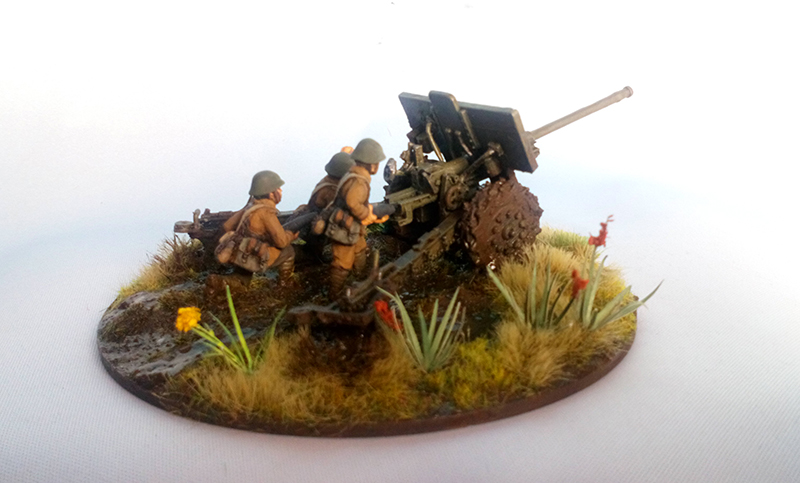 Romanian 76mm Anti-tank Gun M1939 (F22) & Crew - Summer Uniform (Great Escape Games)