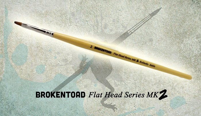 Flathead Series Mk. II Brush Size 3/0 (Broken Toad)