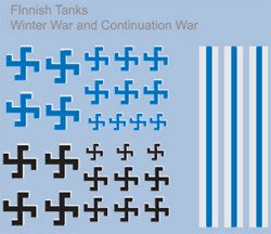 Finnish Armour Decals (Company B)