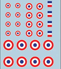 French Armour Decals Set 1 - National Markings/Roundels (Company B)