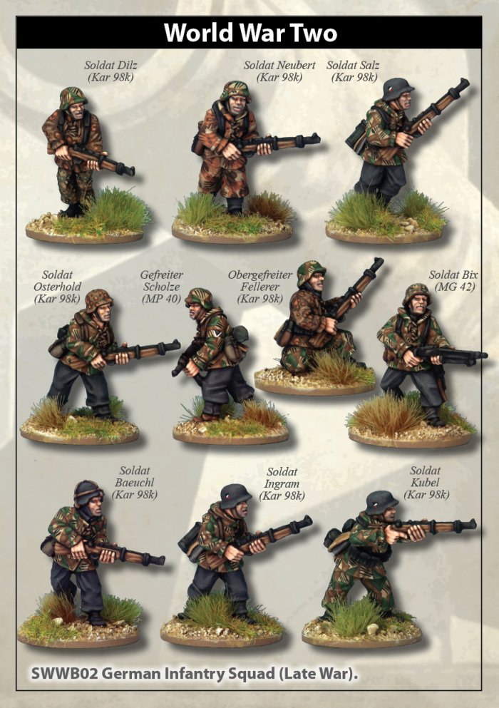 Late War German Infantry Section I (in smocks)(Artizan Designs)