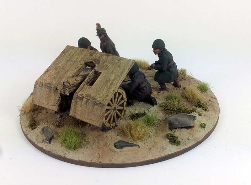 Greek Light Mountain Gun - Skoda M15 75mm & 4 crew (Great Escape Games)