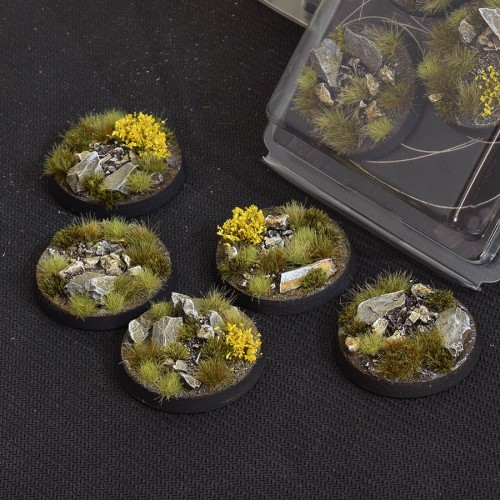 Highland Bases Round 40mm (Gamer's Grass) Pack of 5