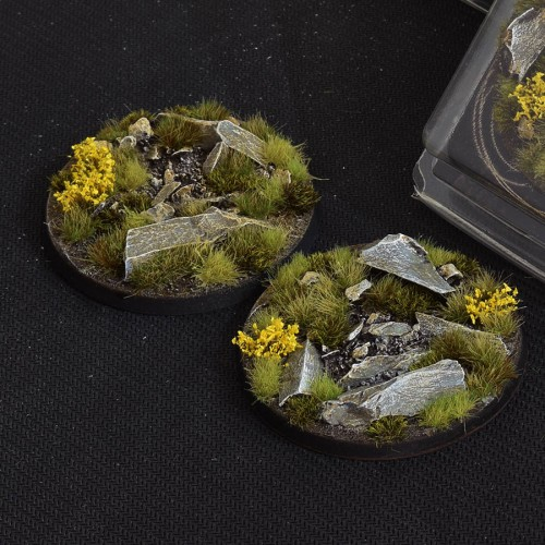 Highland Bases Round 60mm (Gamer's Grass) Pack of 2