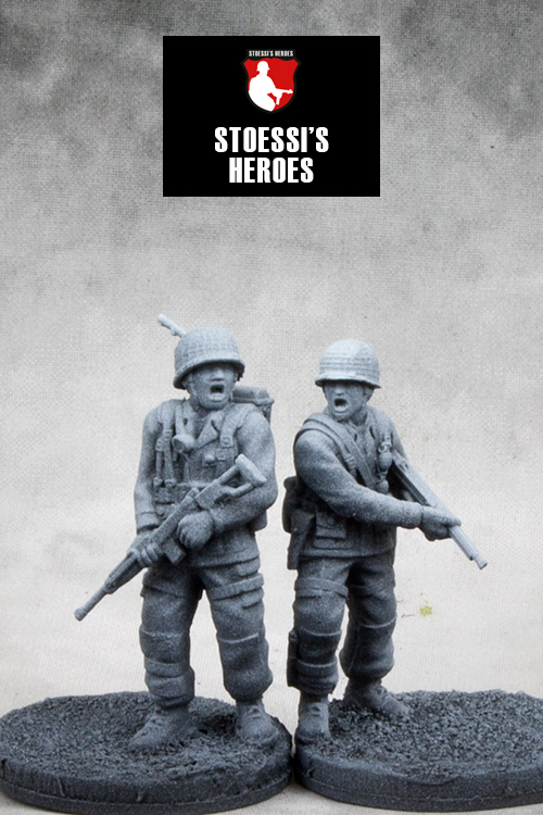 US Airborne T/4 George Luz Sr. & 1st Lt. Harry F. Welsh (Stoessi's Heroes)