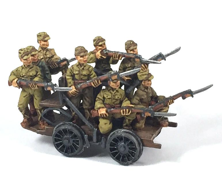 Japanese Railroad Handcar & Troops (8) (Company B)