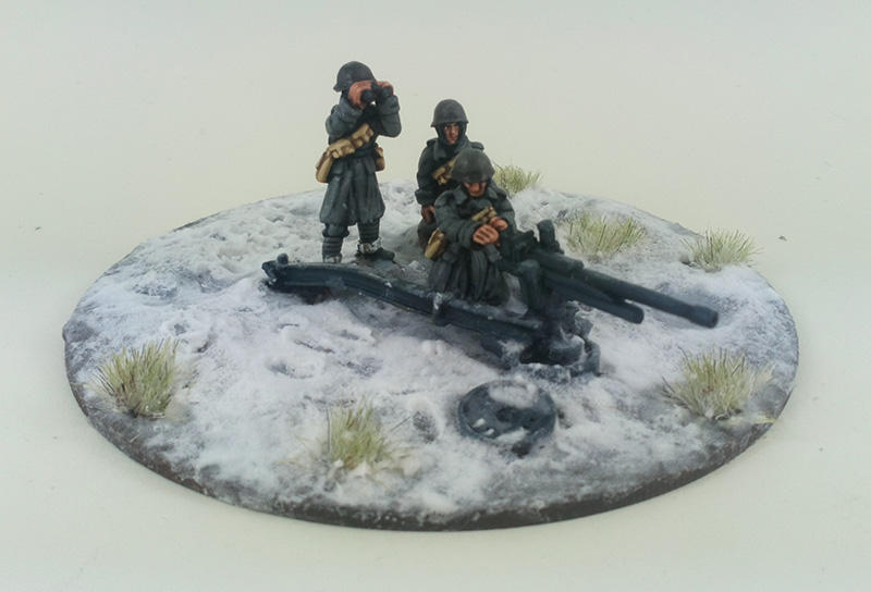 Italian Cannone da 47/32 Elefantino Anti-tank Gun & Crew - Winter Uniform (Great Escape Games)
