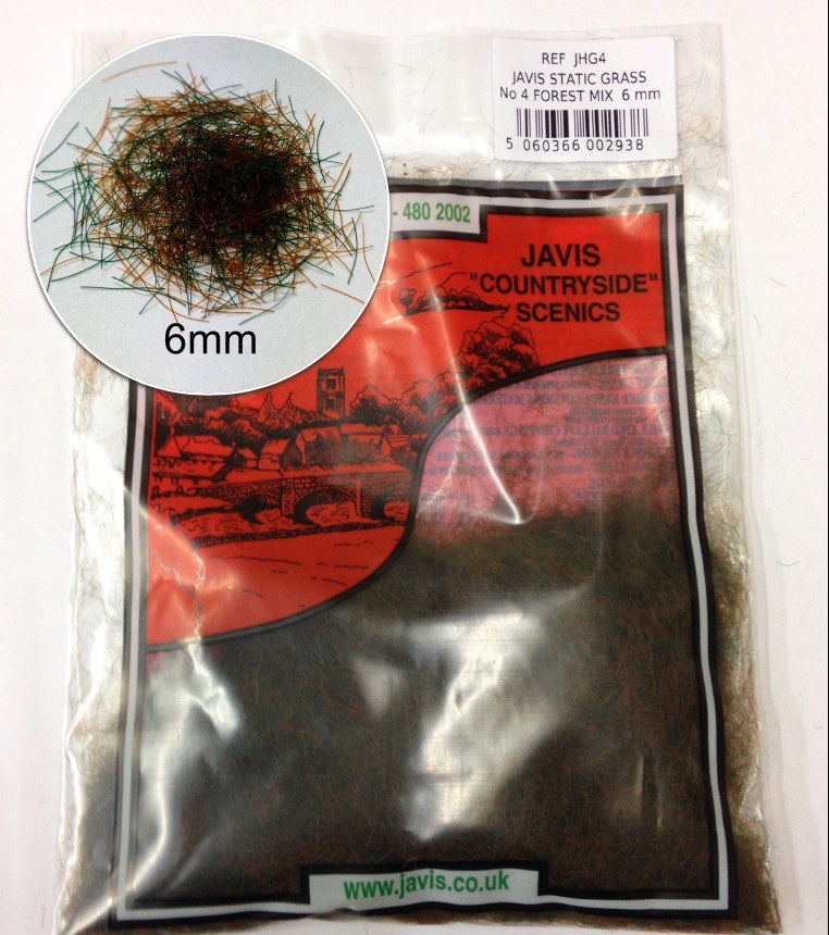 Static Grass 6mm -  No 4 Forest Mix (Javis)