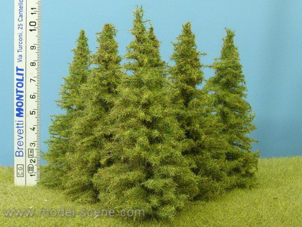 Larch Trees 100mm (Model Scene) x6
