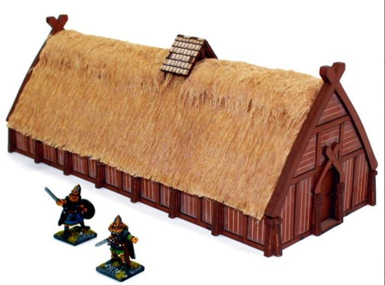 Pre-painted Norse Longhouse (4Ground)
