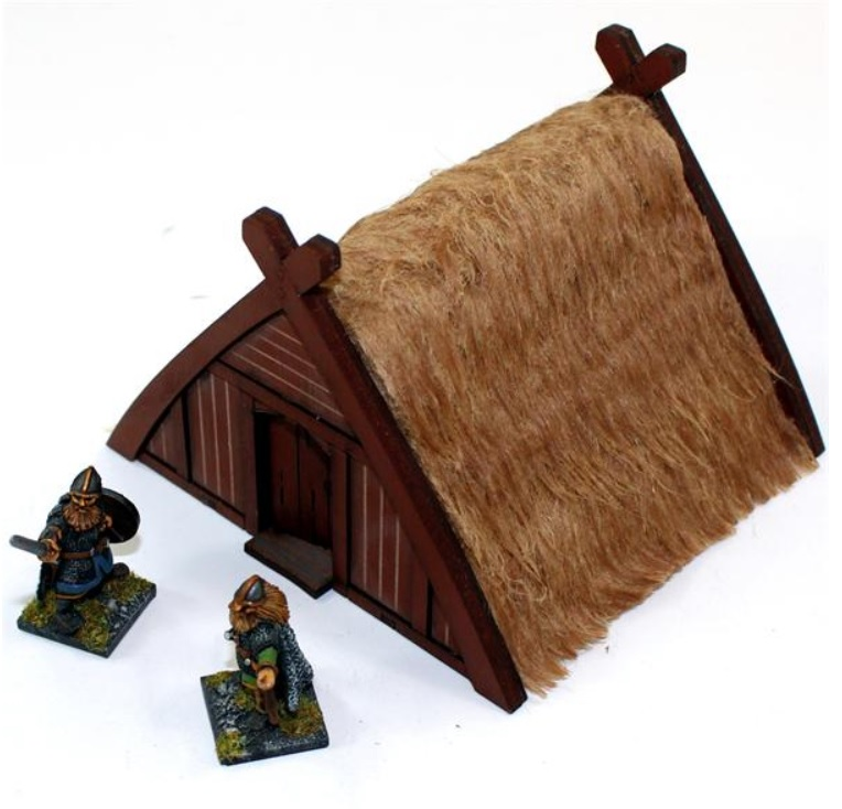 Pre-painted Norse Storehouse/Slave Hut (4Ground)