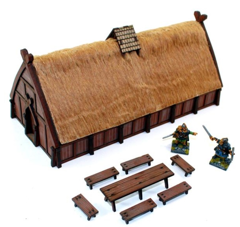 Pre-painted Norse Traders Shop (4Ground)