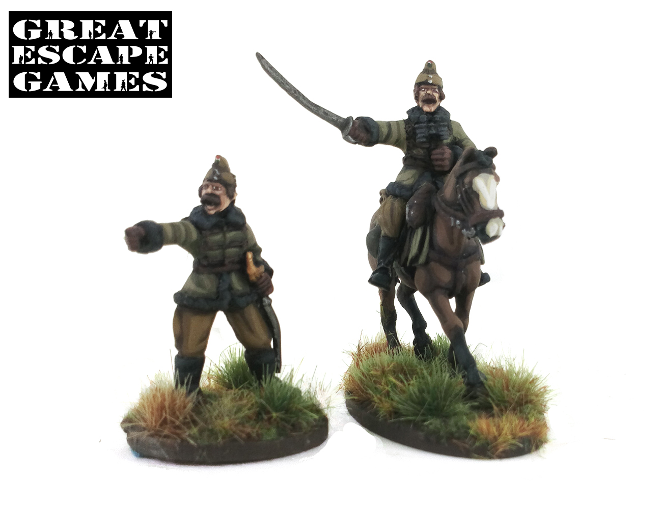 Pledge #4 Százados (Captain) - Hungarian Mounted plus Dismounted Huszár Troop (Great Escape Games) HUN254