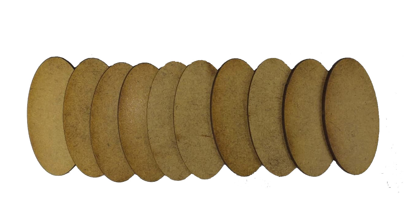 Oval Cavalry Bases 50mm x 25mm for Pledge #3 (pack of 10)
