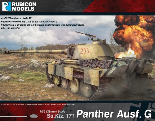 Panther Ausf. G Plastic Kit (Rubicon Models)