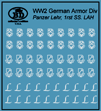 LAH, Panzer Lehr Armour Decals (Company B)