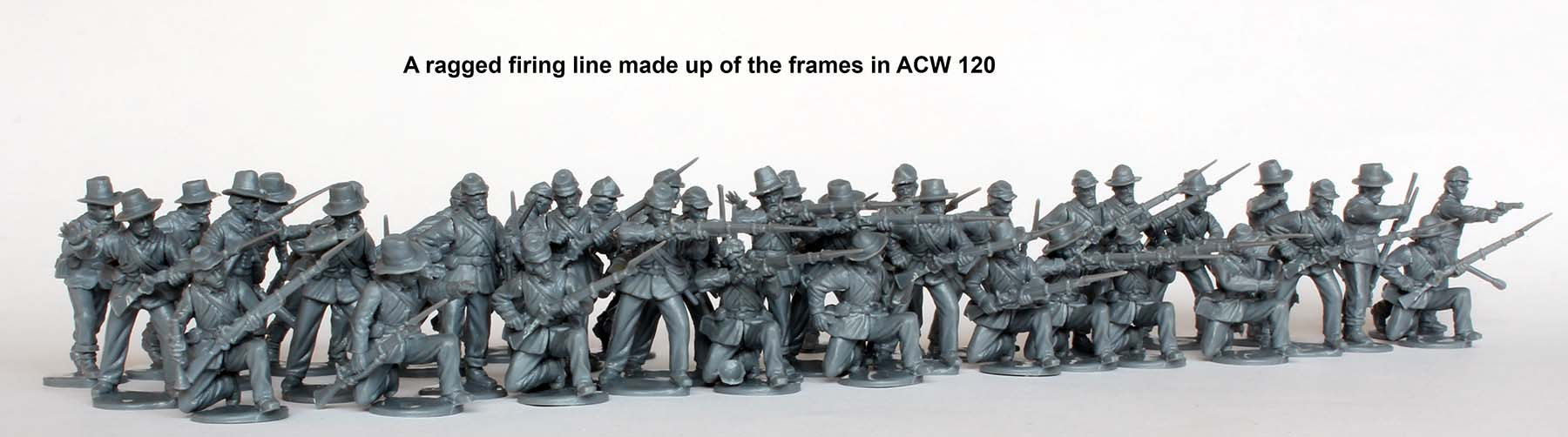American Civil War Union Infantry in sack coats Skirmishing 1861-65 (Perry)