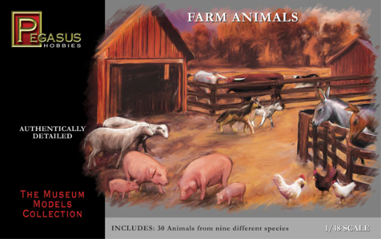 Farm Animals Plastic Kit (Pegasus) 28mm compatible
