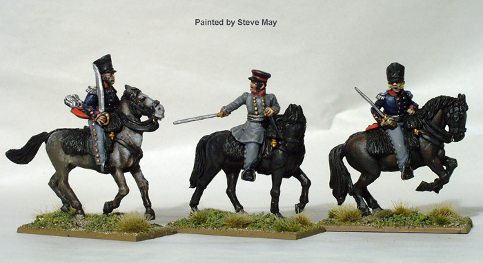 Prussian Mounted Field Officers (Perry Metal) PN3
