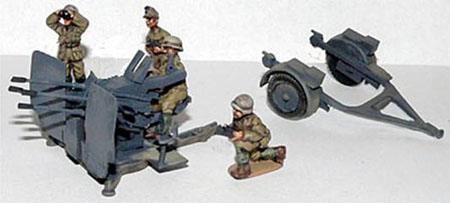 2cm quad Flak38 with crew and Trailer (Company B)