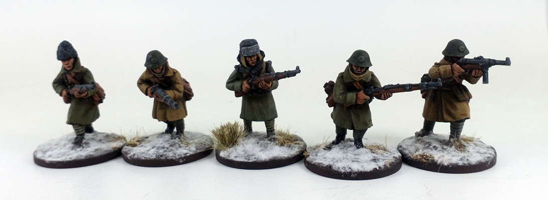 Romanian Rifle Squad A - Winter Uniform (Great Escape Games)