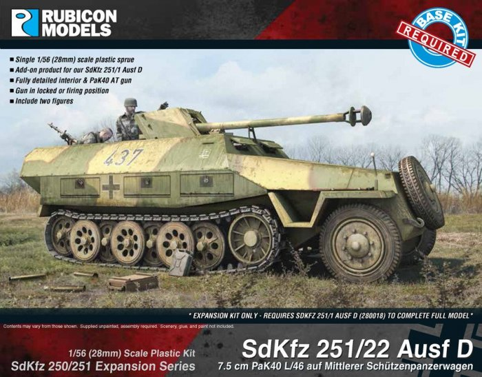 "SdKfz 251 ""Pakwagen"" Expansion - 251/22 Ausf D (Rubicon Models)"