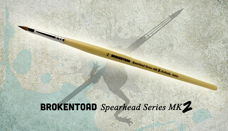 Spearhead Series Mk. II Brush Size 0 (Broken Toad)