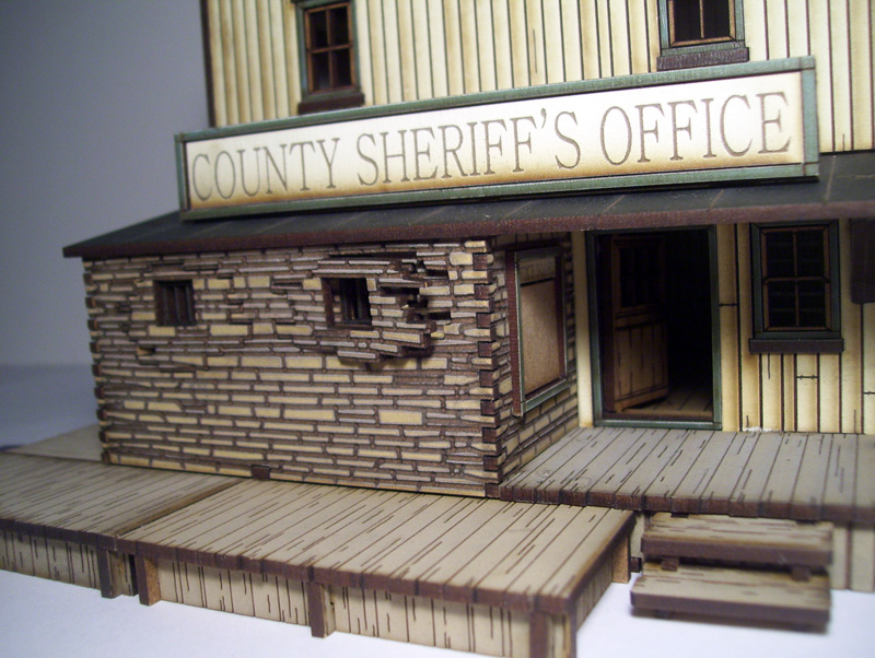 Dead Man's Hand Pre-painted Sheriff's Office
