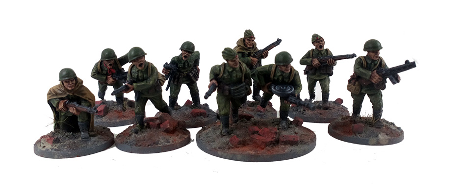 Soviet Infantry Squad B - Summer Uniform (Great Escape Games)