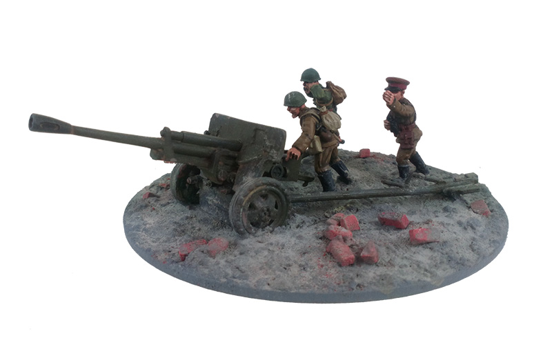ZiS-3 76mm Divisional Gun M1942 & Crew - Summer Uniform (Great Escape Games)