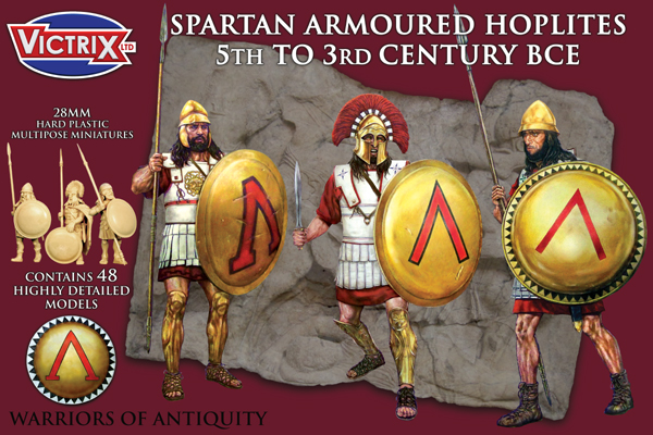 Spartan Armoured Hoplites 5th to 3rd century BCE (Victrix)