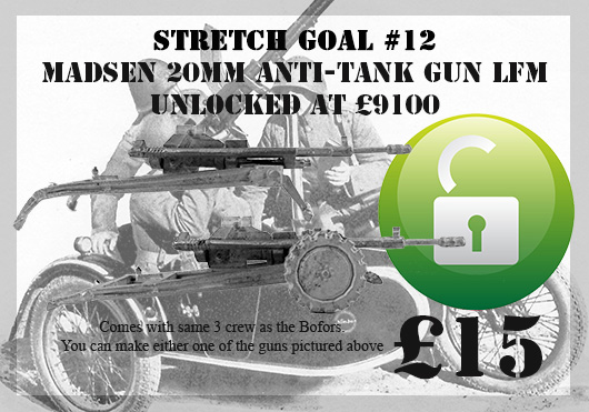 Stretch Goal 11 - Danish Madsen 20mm Anti-aircraft Gun & 4 Crew (Great Escape Games)