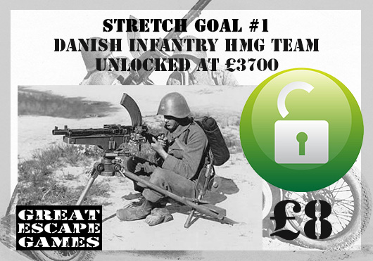 Stretch Goal 1 - Danish Infantry M29 HMG (Great Escape Games)