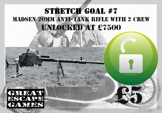 Stretch Goal 7 - Danish Infantry Madsen 20mm Anti-tank Rifle (Great Escape Games)