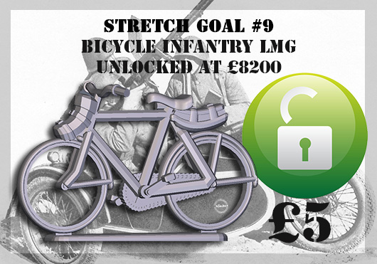 Stretch Goal 9 - Danish Bicycle Infantry LMG (Great Escape Games)