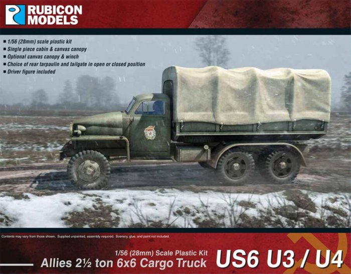 Allied 2½ ton 6x6 Studebaker Truck US6 U3/U4 (Rubicon Models)