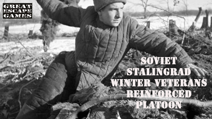 Soviet Supported Platoon - Winter Uniform (Great Escape Games) SOV102,103,104,105,106,107