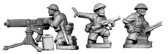 British 8th Army Vickers MMG Team (1 gun and 3 crew) (Artizan Designs)