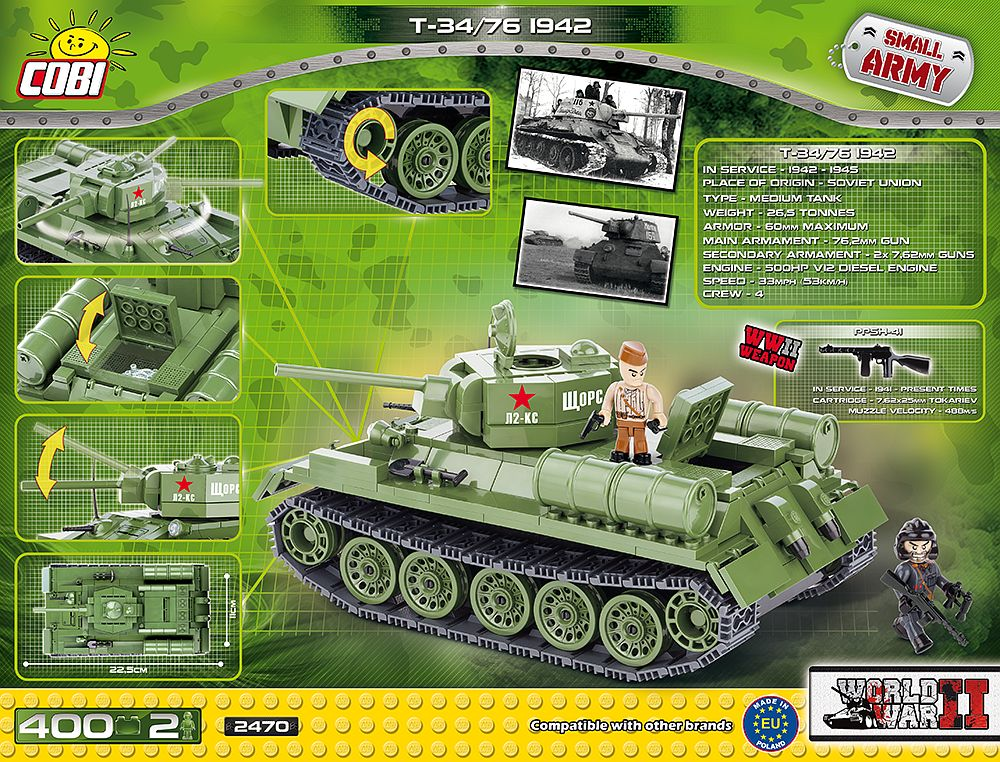 T34/76 M 1942 (2470) Cobi Small Army WWII