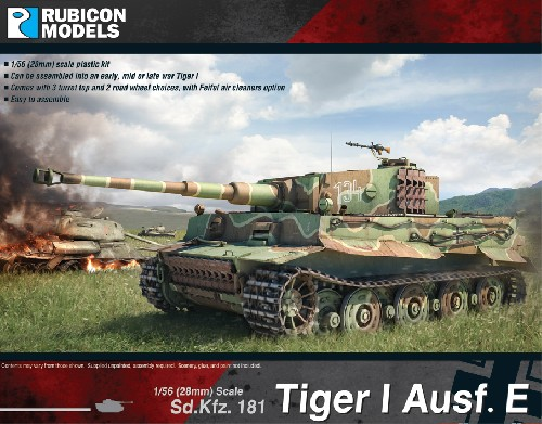 Tiger I Ausf. E Plastic Kit (Rubicon Models)