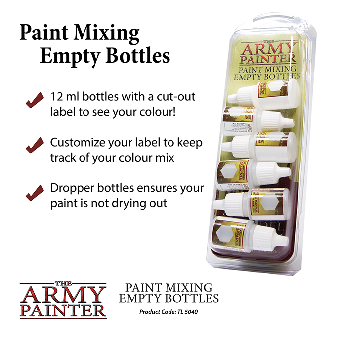 Paint Mixing Empty Bottles 2019 (Army Painter)