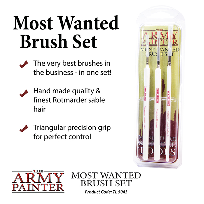 Most Wanted Brush Set (Army Painter)
