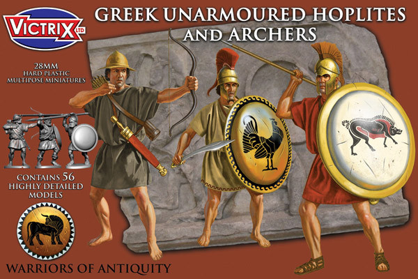Greek Unarmoured Hoplites and Archers (Victrix)