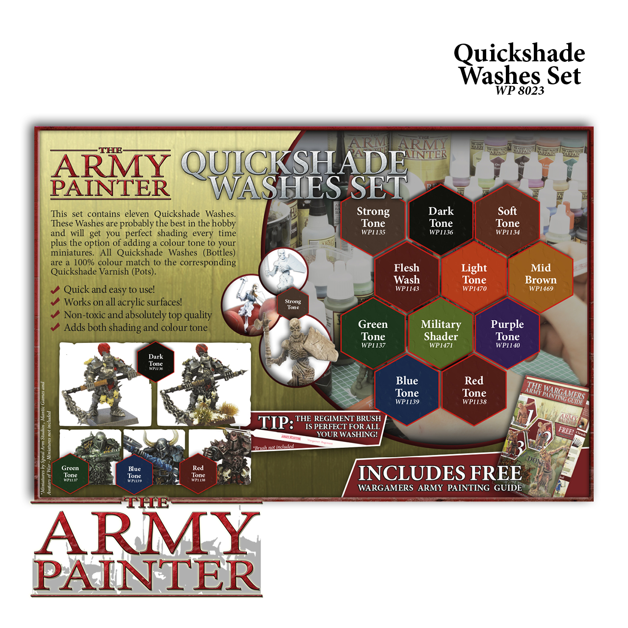 Quickshade Washes Set (Army Painter)