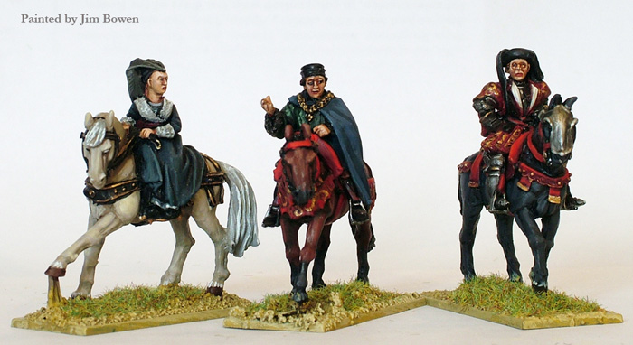 War of the Roses Lancastrian Mounted High Command (Perry)